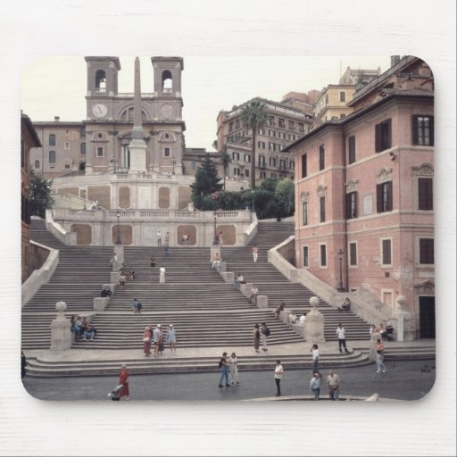 View of the Spanish Steps or Scalinata Mouse Pads