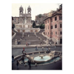View of the Spanish Steps or Scalinata Post Card