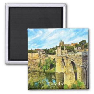 View of the St. Martin Bridge in Toledo. Magnet