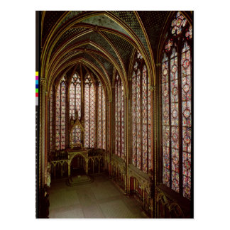 View of the stained glass windows postcard