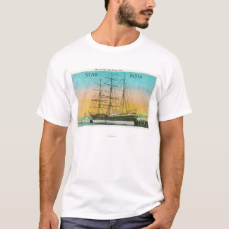 View of the Star of India Boat Docked T-Shirt
