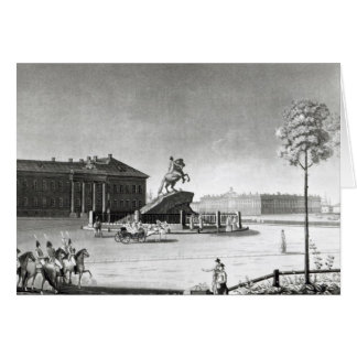 View of the statue of Peter the Great Card