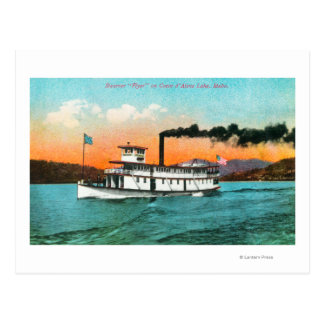 View of the Steamer Flyer on the Lake Postcard