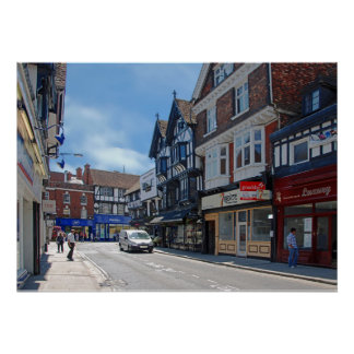 View of the street in Salisbury. Poster