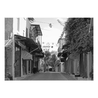 View of the street of a small town in Crete Photo Print