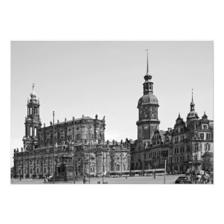 View of the Teatrplatz square in Dresden. Photo Print