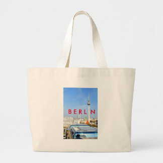 View of the Television Tower in Berlin, Germany Large Tote Bag