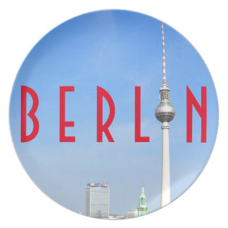 View of the Television Tower in Berlin, Germany Party Plate