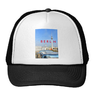 View of the Television Tower in Berlin, Germany Trucker Hat
