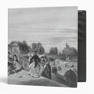View of the Terrace, Central Park, 1872 Vinyl Binder