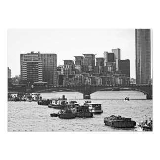 View of the Thames. Houses and ships. Photo Print