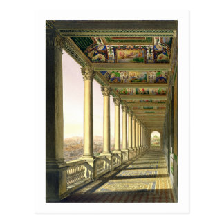 View of the third floor Loggia at the Vatican, wit Postcard