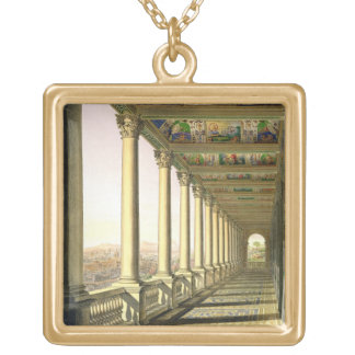 View of the third floor Loggia at the Vatican, wit Square Pendant Necklace