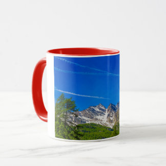 view of the Three Levanne mountains mountains mug
