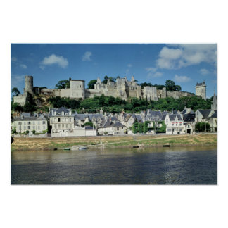 View of the town and castle poster