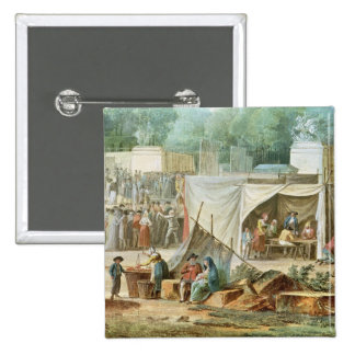 View of the Tuileries 2 Inch Square Button