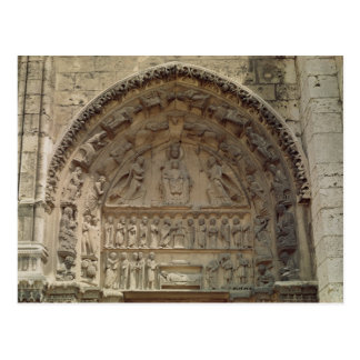 View of the tympanum depicting the Madonna Postcard