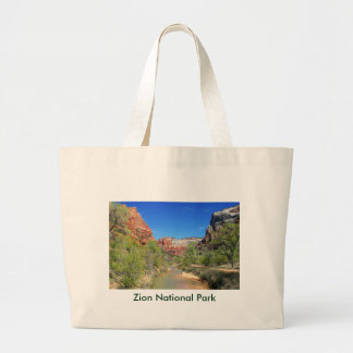 View of the Virgin River 1 Large Tote Bag