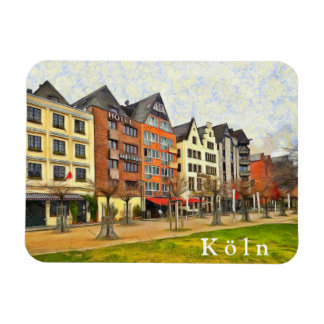 "View of the waterfront ""Rhine Garden"" in Cologne. Magnet"