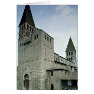 View of the west facade, 10th-11th century card