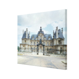 View of the West facade of Chateau de Maisons Stretched Canvas Prints