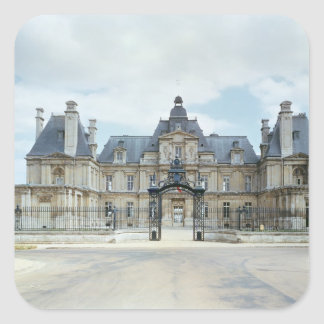 View of the West facade of Chateau de Maisons Square Sticker