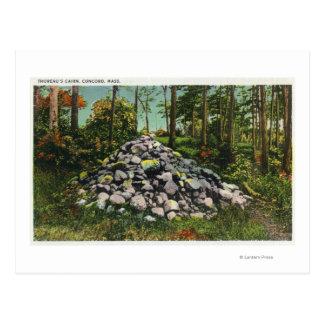 View of Thoreau's Cairn Postcard