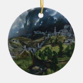 View of Toledo by El Greco Ceramic Ornament