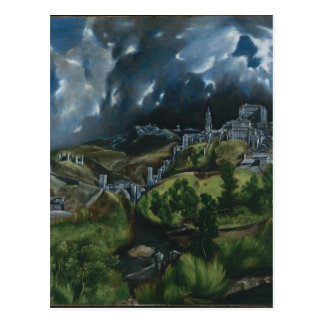 View of Toledo by El Greco Postcard