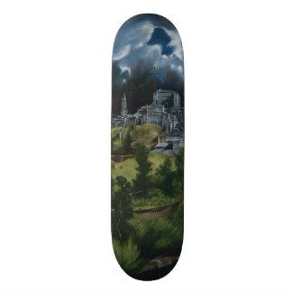 View of Toledo by El Greco Skate Board Deck