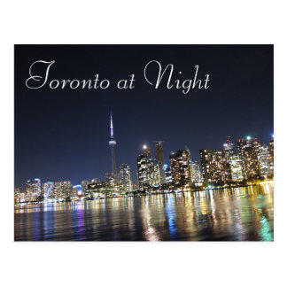View of Toronto at Night Postcard