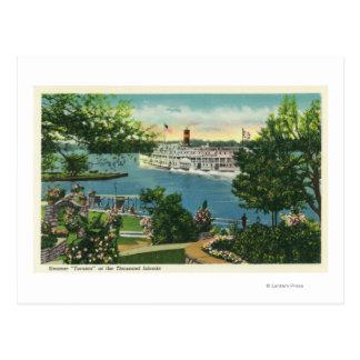 View of Toronto Steamer Postcard