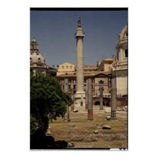 View of Trajan's Column, 113 AD Poster