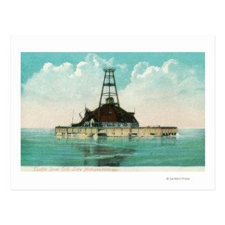 View of Twelfth Street Crib Lighthouse Postcard