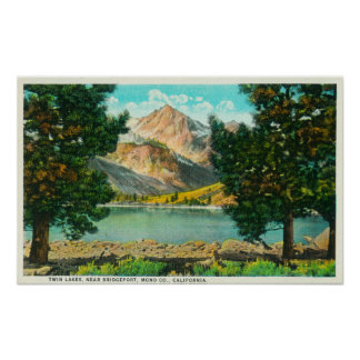View of Twin Lakes near Bridgeport Poster