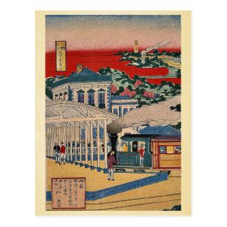 View of Ueno Nakasendo railwayby Nogawa,Tsumekichi Postcard