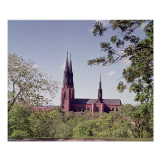 View of Uppsala Cathedral from the Castle Poster