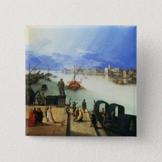 View of Venice 2 Inch Square Button