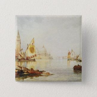 View of Venice 2 Inch Square Button