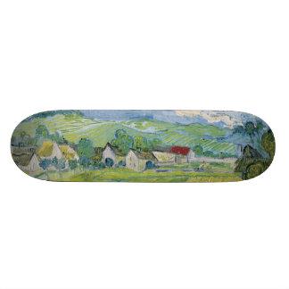 View of Vessenots Near Auvers by Vincent Van Gogh Skate Board Deck