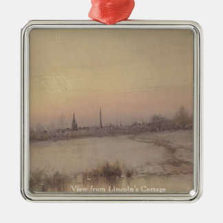 View of Washington, DC from Soldiers Home Silver-Colored Square Ornament