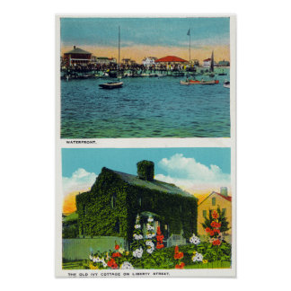 View of Waterfront, Old Ivy Cottage on Liberty Poster