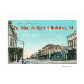 View of West StreetHealdsburg, CA Postcard