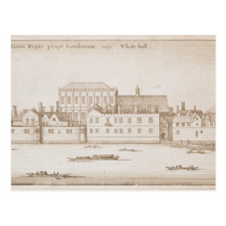 View of Whitehall, 1645 Postcard