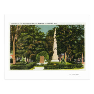 View of World War, Revolutionary War Memorials Postcard