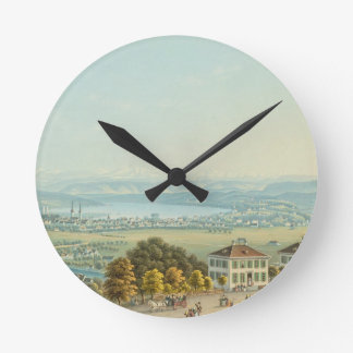 View of Zurich, c.1840 (w/c) Wallclocks