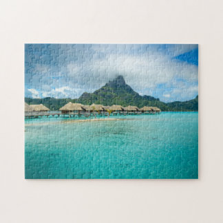 View on Bora Bora island jigsaw puzzle