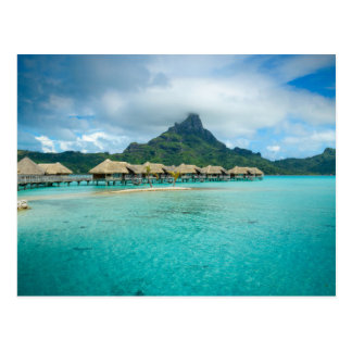 View on Bora Bora island postcard