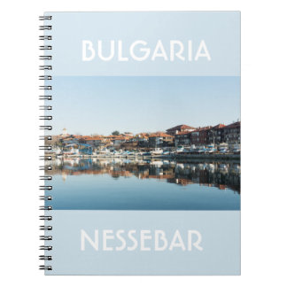 View on famous Bulgarian town Nessebar Notebook
