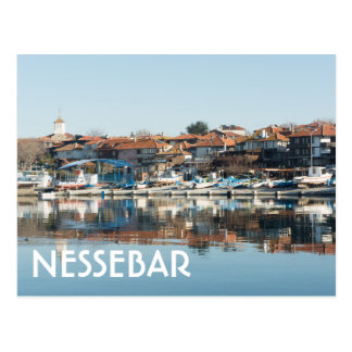 View on famous Bulgarian town Nessebar Postcard